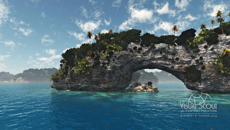 Felsbogen einer Koralleninsel
