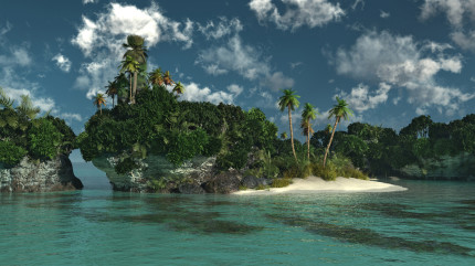 Koralleninsel mit Sandstrand