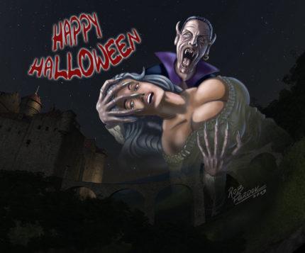 Dracula feiert Halloween